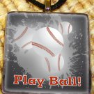 Play Ball Glass Pendant