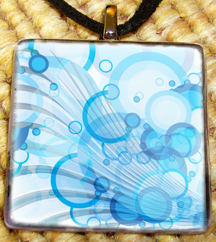 Retro Circles Glass Pendant