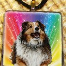 Collie Glass Pendant