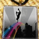 Hip Hop - Rainbow Glass Pendant