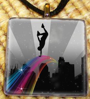 Hip Hop - Rainbow Glass Pendant