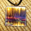 Spring Morning Glass Pendant