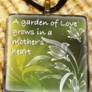 A Garden - Mother's Glass Pendant