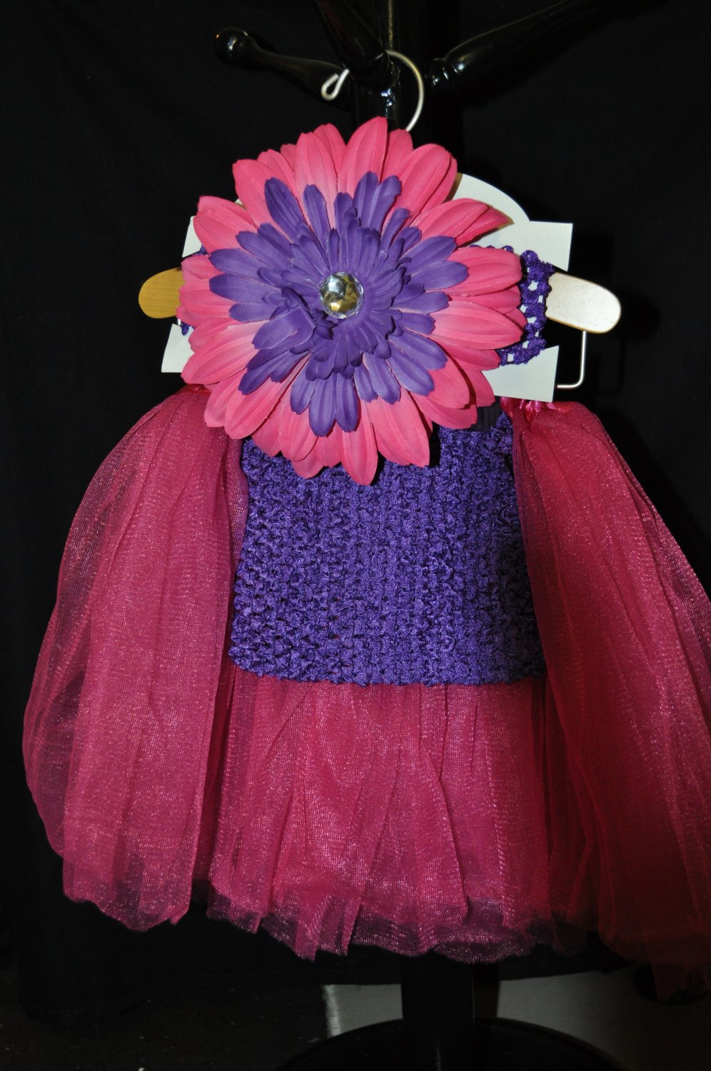 Hot Pink and Purple Tutu Set