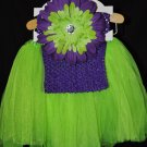 Lime Green and Purple Tutu Set