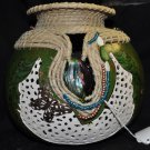 Leaves and Beads Gourd Art - 149-10