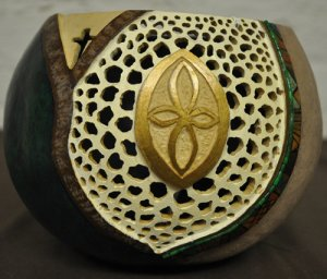 Inspiration - Hand Carved Gourd Art - 140-09