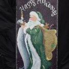Happy Holidays - Old Time Santa - Large Slate