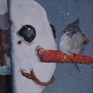 Bluebird on Snowman - Medium Slate