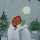 Snowman Family - Medium Slate