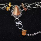 Brown Semi-Precious Stone Slave Bracelet