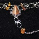 Brown Semi-Precious Stone Slave Bracelet