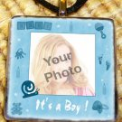 Custom Picture Glass tile Pendant - It's a Boy