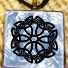 Celtic Cross Glass Pendant by Shaman Weston