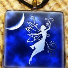 Tribal Moon Fairy Glass Pendant