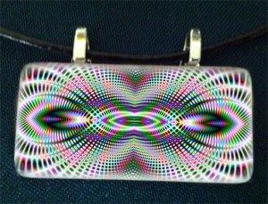 Hypnotic Rectangle Glass Pendant