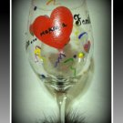 Love Makes a Family 16 oz hand painted wine glass