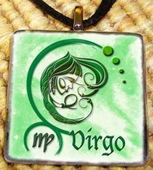 Virgo Glass Pendant