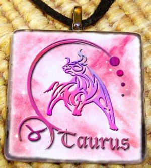 Taurus Glass Pendant