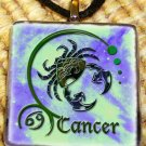 Cancer Glass Pendant