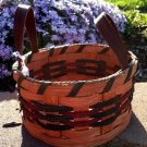 "Amish Round Button Basket- 6.75"" diameter - 3.5"" deep"