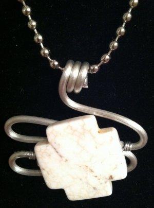 White Granite Stone Pendant