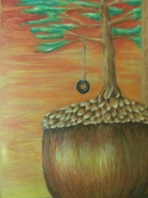"Dreams are Seedlings of Reality Colored Pencils 12""X9"""