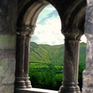 Sligo Abbey with Glencar  8x10 print