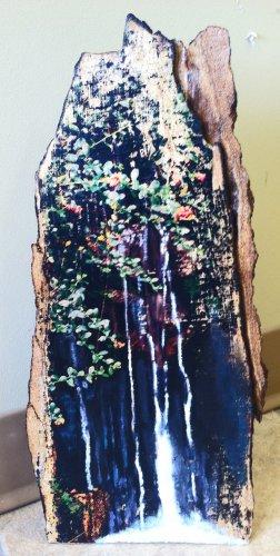 Natural Spring Waterfall Wood Art