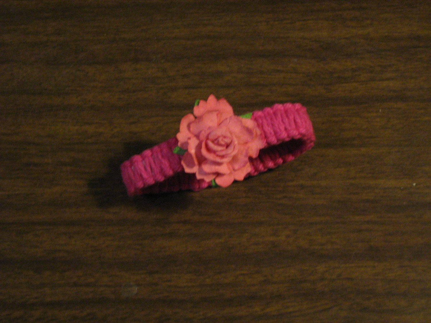 macrame bracelet with flower