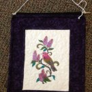 Purple Finch on Lilac Quilted Wall Hanging
