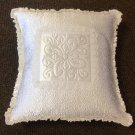 Embroidered Satin Pillow