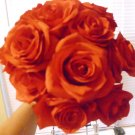 BEAUTIFUL SILK RED ROSES BOUQUET