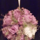 WEDDING KISSING FLOWER BALL(SILK) LAVENDER