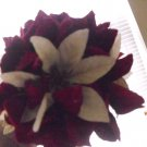 POINSETTIA VELVETEEN FLOWER KISSING BALL