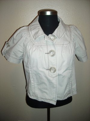 DKNY SHORT SLEEVE TAN JACKET SIZE L