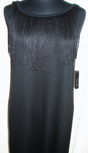 I HEART RONSON BLACK FRINGE DRESS SIZE L (NEW)