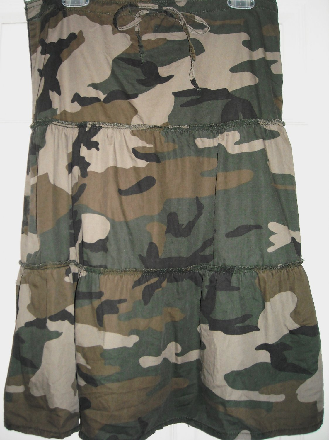 MOE GREEN CAMOUFLAGE SKIRT SIZE S