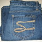 7 (SEVEN) BLUE DENIM JEANS SIZE 8