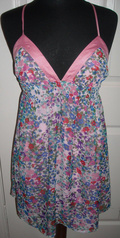 TWENTY ONE FLORAL SHORT DRESS SIZE M (NEW)
