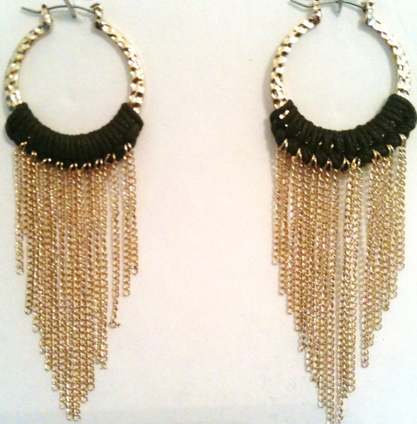 GOLD AND BROWN EARRINGS (NEW)