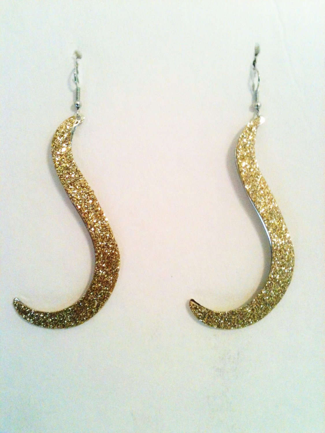 GOLD GLITTER OVERLAY EARRINGS (NEW)