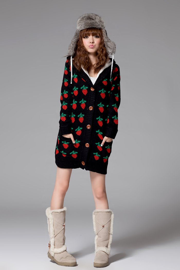 Cozy Strawberry designed Sweater#1091