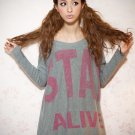 Long Grey green Sweater#6103