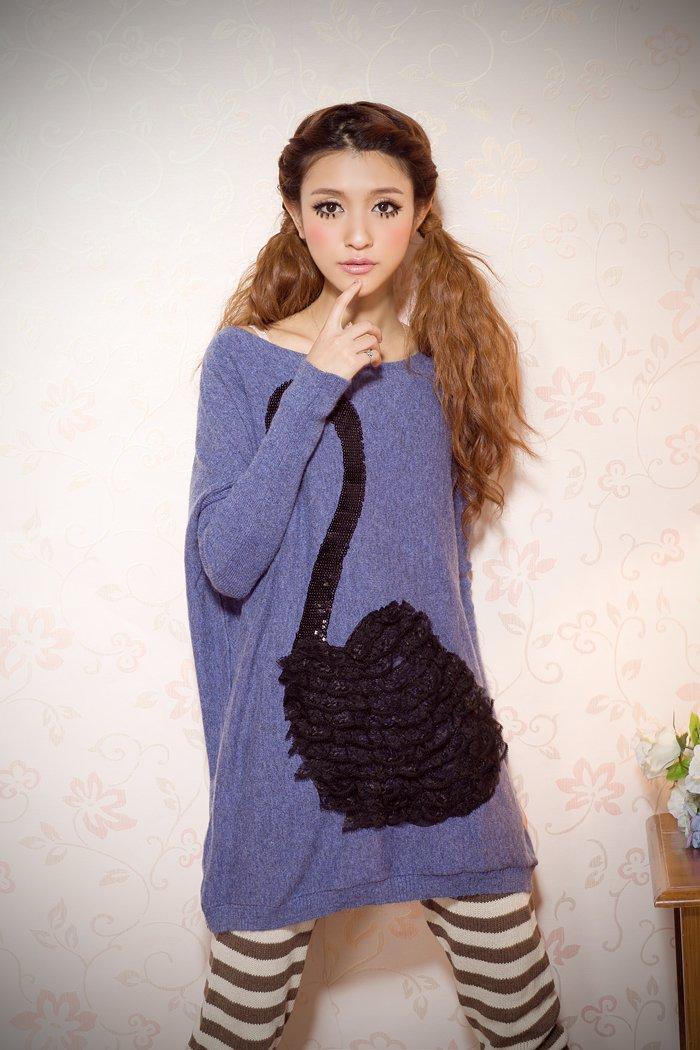 Swan design sweater#6102