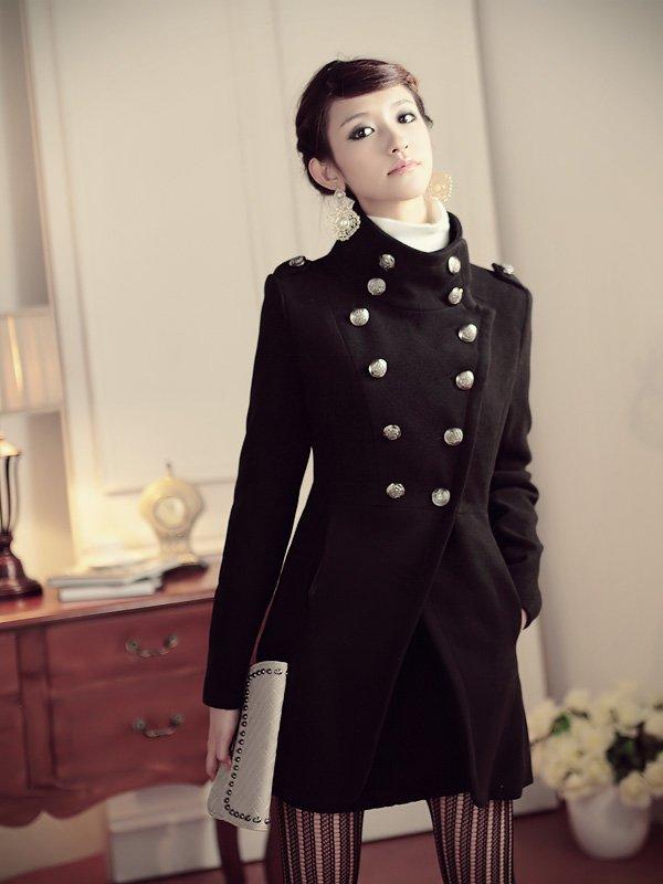 Women double -breasted wool coat #96432