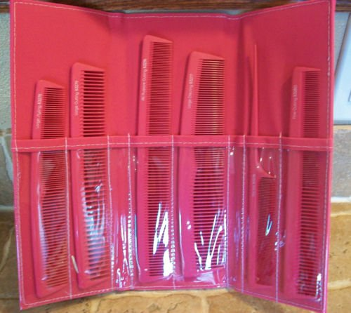 T3  6 pc Pink Comb Collection & Carry Case ~ $40.00