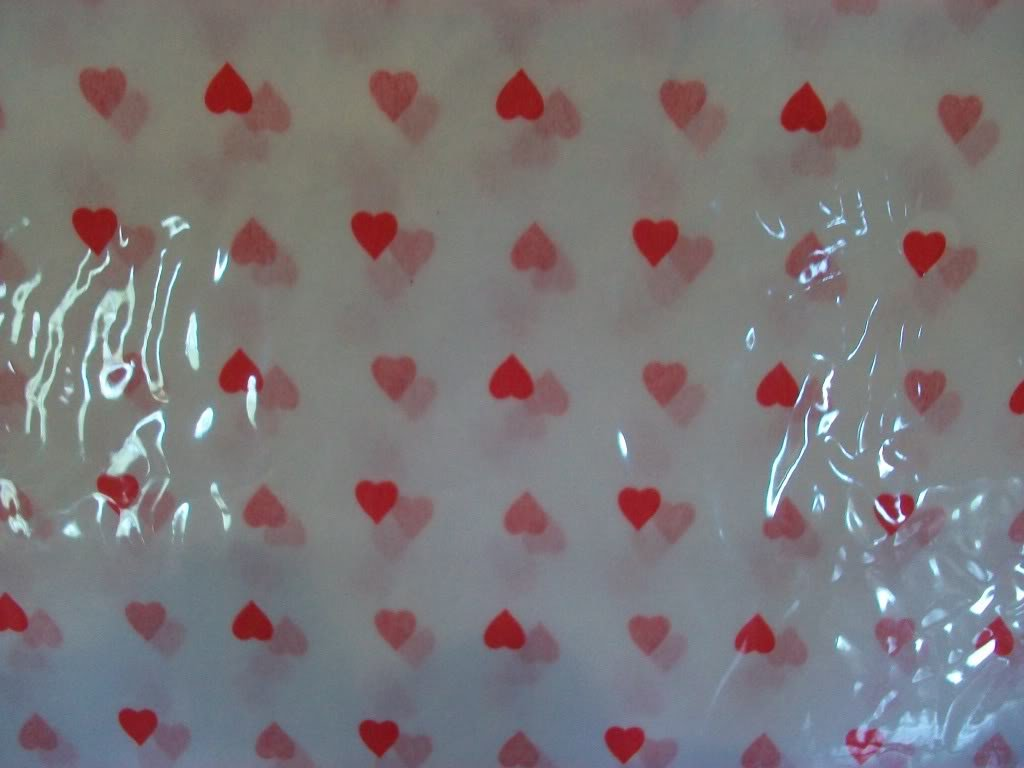 25 Sheets Hearts on White Tissue Paper ~  NIP