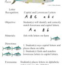 ABC Fish Letter or Sound Recognition Game, Great Center, or One on One! PDF