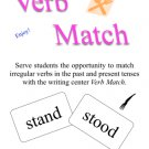 Irregular Verb Match Game or Writing Center - Great for One on One or Small Group PDF